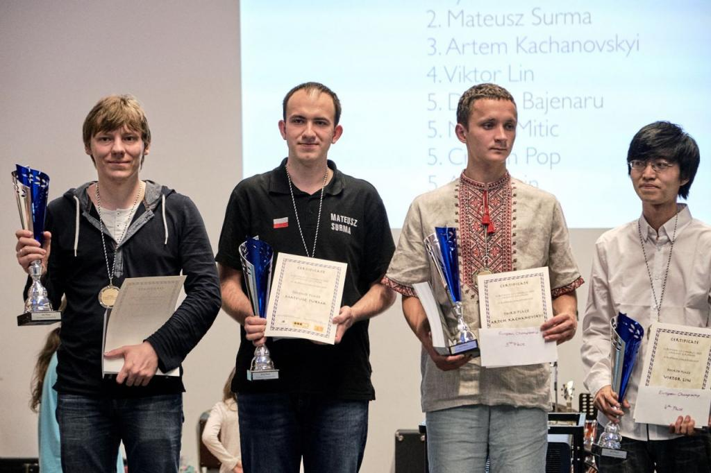 Prize giving of the European Championship 2017